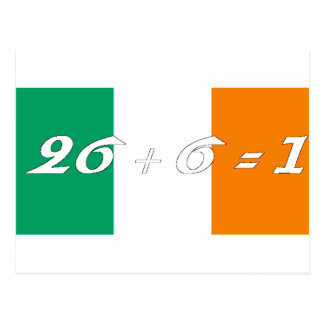 Irish Flag 26+6 2 Postcard