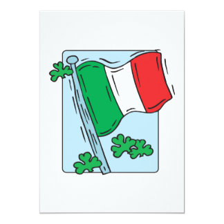 Irish Flag 5x7 Paper Invitation Card
