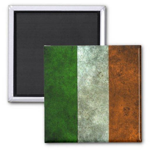 Irish Flag Aged Steel Effect Refrigerator Magnets