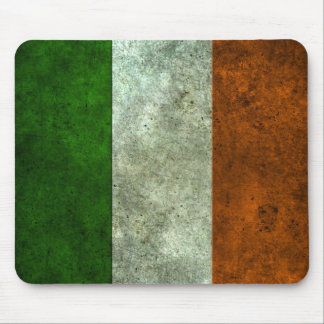 Irish Flag Aged Steel Effect Mouse Pad