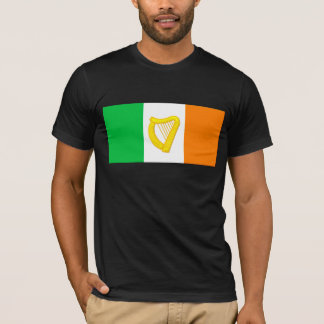 Irish Flag and the Irish Harp T-Shirt
