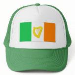 Irish Flag and the Irish Harp Trucker Hat