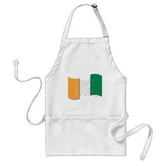 Irish flag/Anthem Adult Apron