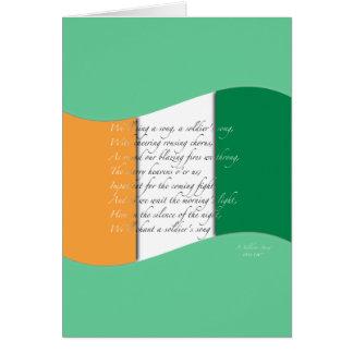 Irish flag/Anthem Card