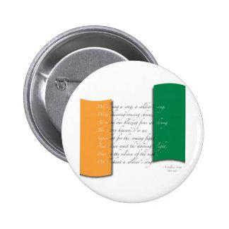 Irish flag/Anthem Pinback Button