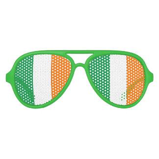 Irish Flag - Aviator Party Shades! Aviator Sunglasses