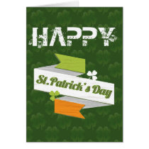 irish flag banner St Patrick's day card