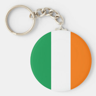 Irish Flag Basic Round Button Keychain