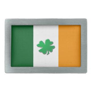 Irish flag belt buckles