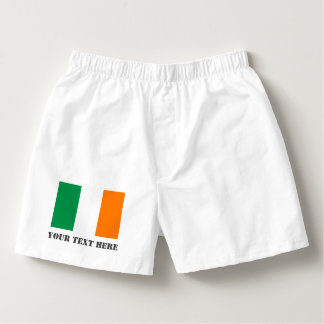Irish flag boxer shorts underwear for St Patricks