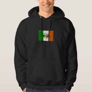 Irish flag clover sheet hoodie