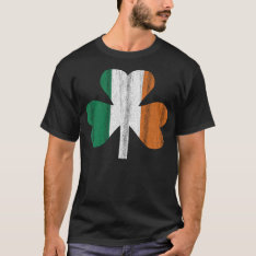 Irish Flag Clover T-shirt at Zazzle