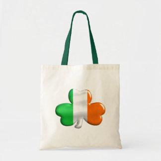 Irish Flag Clover Tote Bag