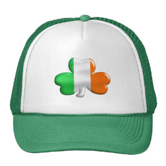 Irish Flag Clover Trucker Hat