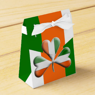 Irish Flag Colored Shamrock Favor Box