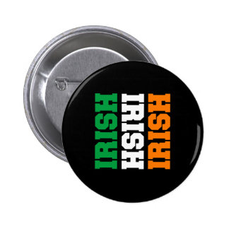 Irish Flag Colors for St Patricks Button