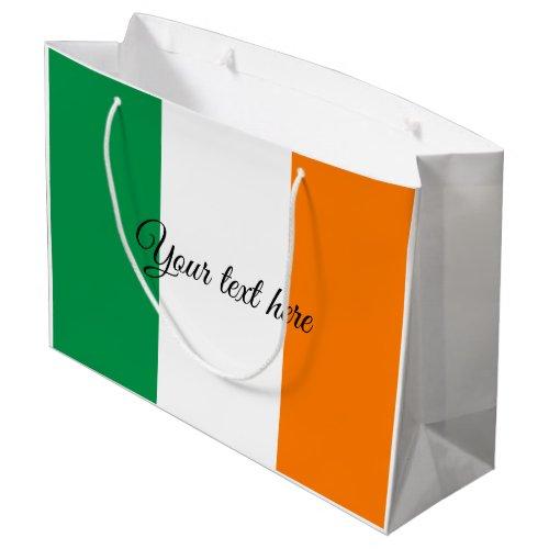 Irish flag custom Birthday and Holiday gift bags