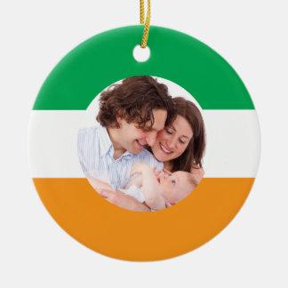 Irish Flag Custom Family Photo Christmas Ornament