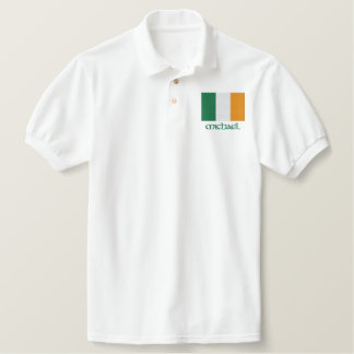 Irish Flag Customizable Embroidered Shirt Design