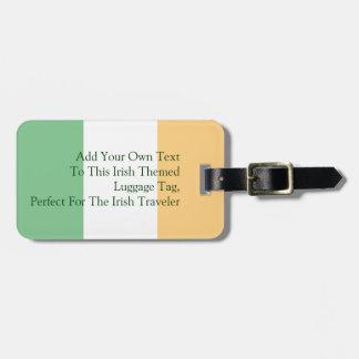 Irish Flag Customizable Luggage Tag