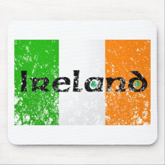 Irish Flag Distressed Look Mouse Pad