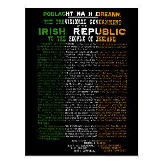 Irish Flag Easter Rising 1916 Proclamation Post Card
