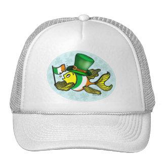 IRISH FLAG FISH funny cute Fish with Ireland flag Trucker Hat
