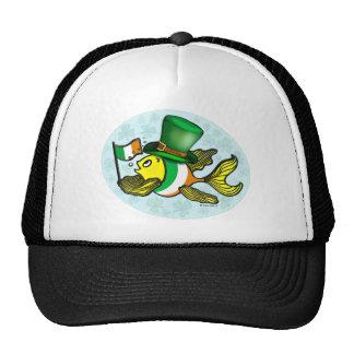 IRISH FLAG FISH luck fish and Ireland flag T-Shirt Trucker Hat