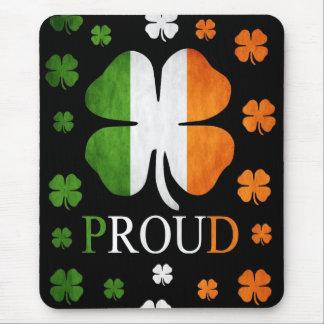 Irish flag four leaf clover mouse pad