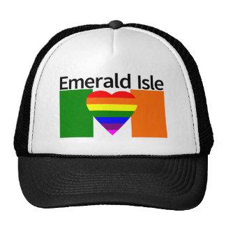 Irish Flag GLBQ Freedom Heart Emerald Isle Trucker Hat