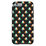 Irish Flag-Green/White/Orange-Colored Shamrocks Tough iPhone 6 Case