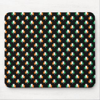 Irish Flag-Green/White/Orange-Colored Shamrocks Mouse Pad