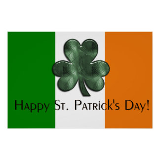 Irish Flag - Happy St. Patrick's Day Print