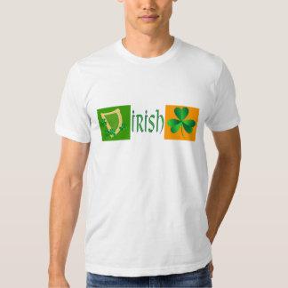 Irish Flag Harp Shamrock T-Shirt
