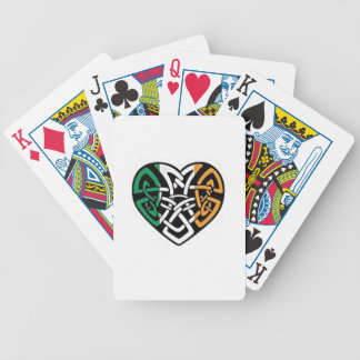 Irish Flag Heart Bicycle Playing Cards
