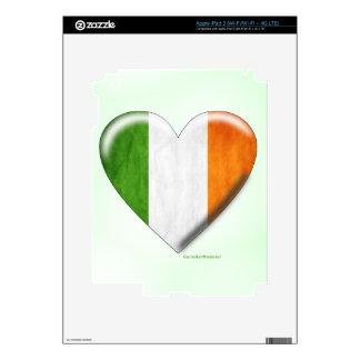 Irish Flag Heart Collage Skin For iPad 3