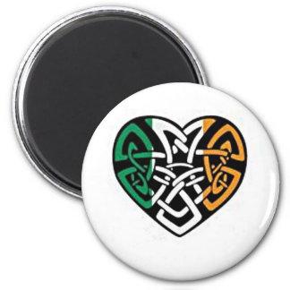Irish Flag Heart Magnet