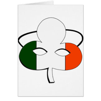 Irish Flag Mask Card