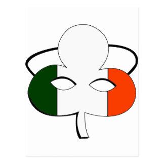 Irish Flag Mask Postcard