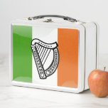 Irish flag metal lunch box