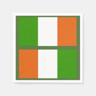 Irish Flag Napkin Standard Cocktail Napkin