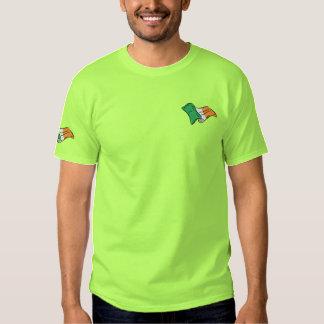 Irish flag of Ireland Green Irish T Embroidered T-Shirt