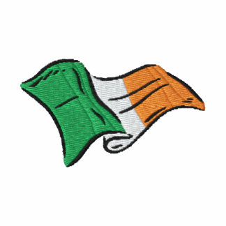 Irish flag of Ireland Irish Golf T Embroidered Shirt