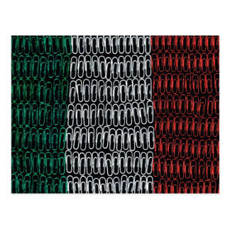 Irish Flag of Paperclips Postcard