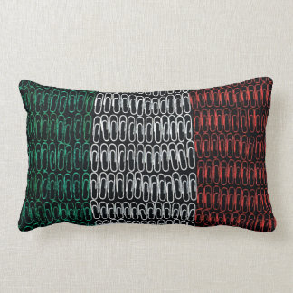 Irish Flag of Paperclips Throw Pillow