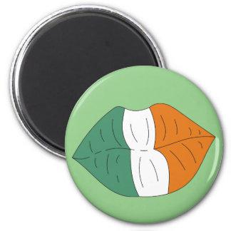 Irish Flag on Lips Funny St.Paddy's Day Design Magnet