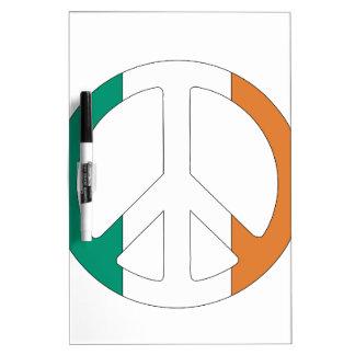 Irish Flag Peace Symbol Dry-Erase Whiteboards