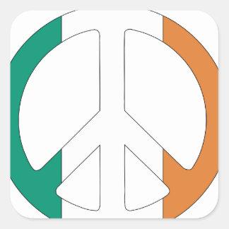 Irish Flag Peace Symbol Square Sticker