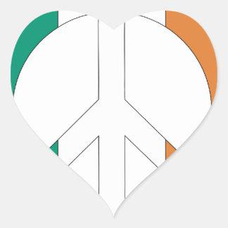Irish Flag Peace Symbol Stickers