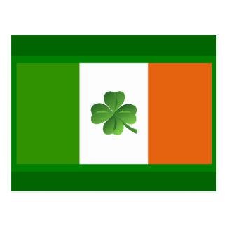 Irish flag postcard